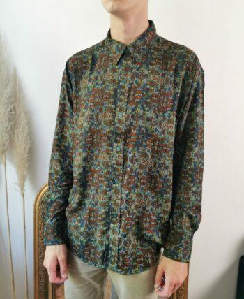 Belle chemise vintage homme à motifs
