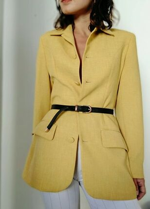 Blazer vintage jaune