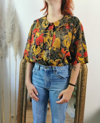 Belle chemise fleurie vintage