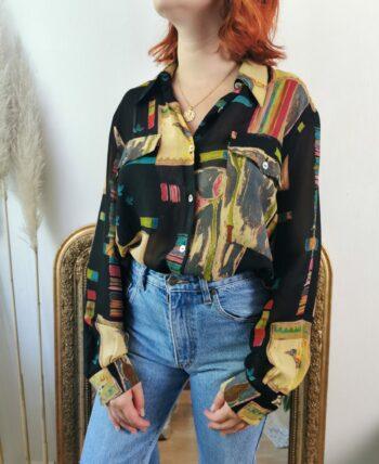 Magnifique chemise vintage à motifs
