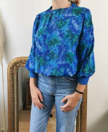 Magnifique chemise style impressionniste vintage