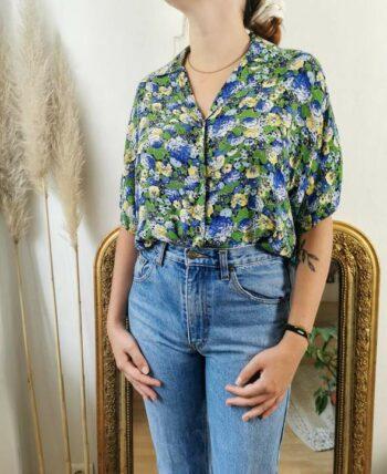 Magnifique chemise fleurie vintage