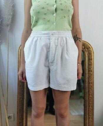 Super short Adidas blanc sportwear