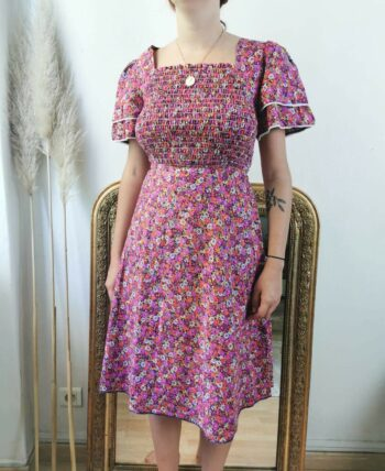 Magnifique robe 70s à fleurs Vintage