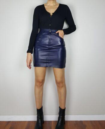 Mini jupe en cuir d