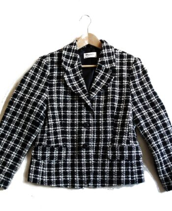 blazer carreau tweed