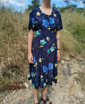 Magnifique robe à fleurs vintage
