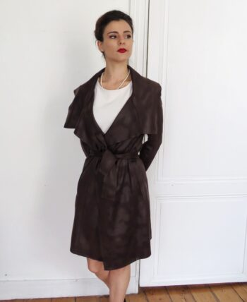 trench ombré marron