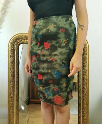 Jolie jupe 90s à fleurs vintage