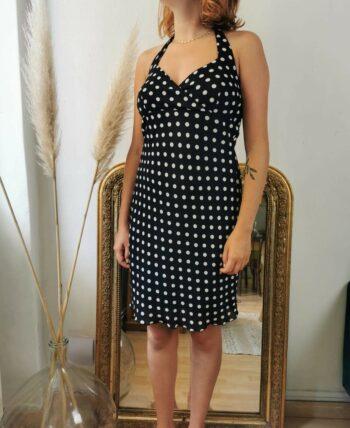 Magnifique robe à pois rétro vintage 90s