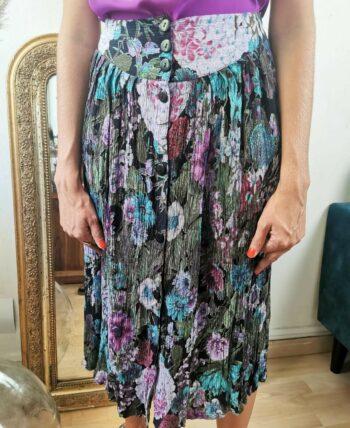 Sublime jupe à fleurs taille haute