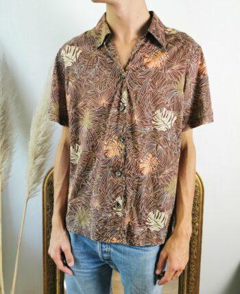 Magnifique chemise homme à motifs vintage