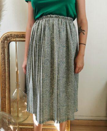 Magnifique jupe plissée taille haute vintage