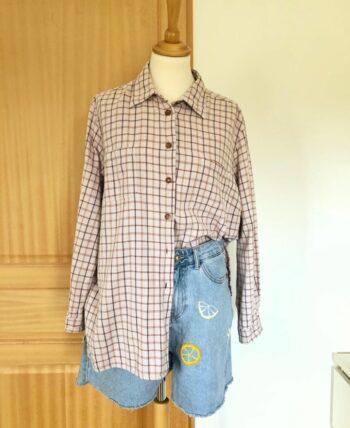 Chemise à carreaux vintage