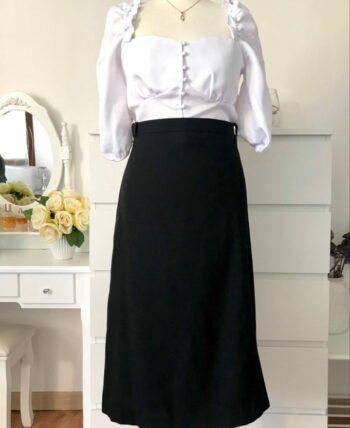 Jolie jupe vintage en laine douce 🌹