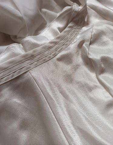 Combishort en satin blanche lingerie