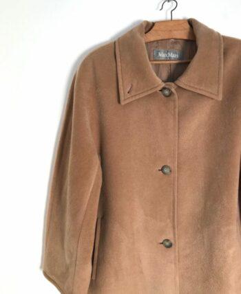 Manteau pure laine beige oversized Max Mara années 90