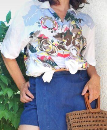 Chemise hawaïenne vintage 80s Daniel Hechter (unisexe?)