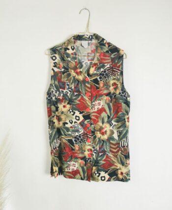 Chemise à fleurs 90s