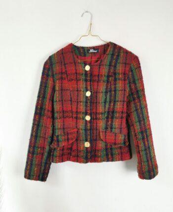 Magnifique veste multicolore tartan vintage