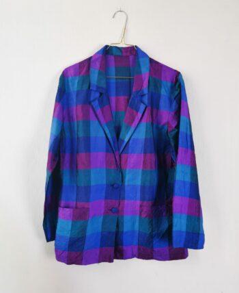 Belle veste à carreaux colorée