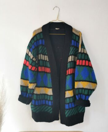 Gilet oversize 80s multicolore