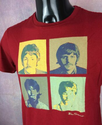 BEN SHERMAN T-Shirt The Beatles Warhol Red - Gabba Vintage (2)_resultat