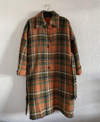 Manteau à carreau en laine 70
