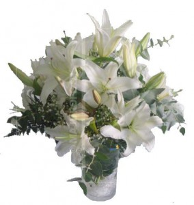 Jarron Lilium oriental (lirios)