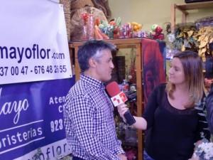 Javier Fernandez - entrevistado en el taller de flores