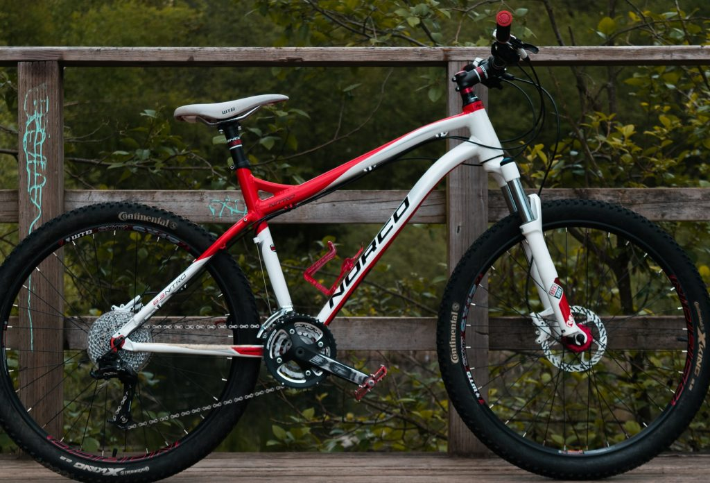 A hardtail bike used for downhill riding