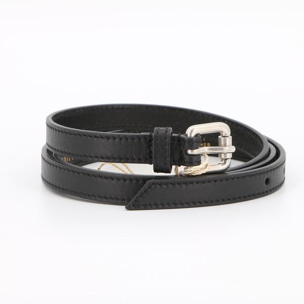 Emilio Pucci 55GC21 $70 Women's Black Genuine Leather Belt
