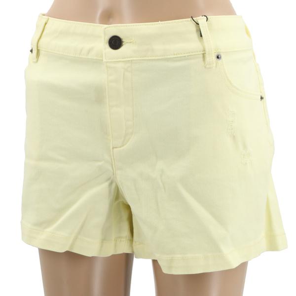 Armani Exchange N5S131B1 $85 Women's Distressed Light Yellow Denim Shorts - NWT
