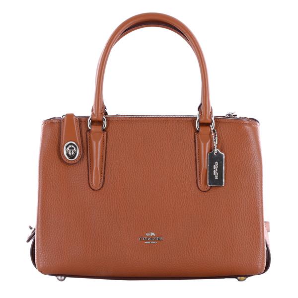 Coach 56839 Brooklyn 28 Pebbled Leather Crossbody Satchel Bag