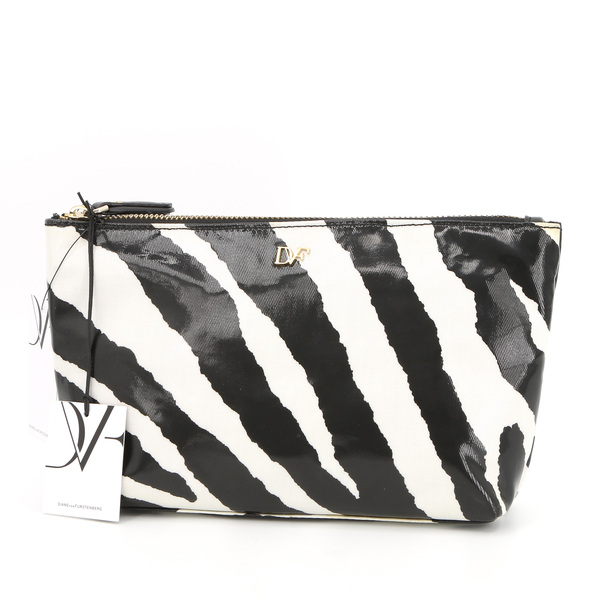 Diane Von Furstenberg $95 A1123103A14 Zebra Cosmetic Bag - NWT