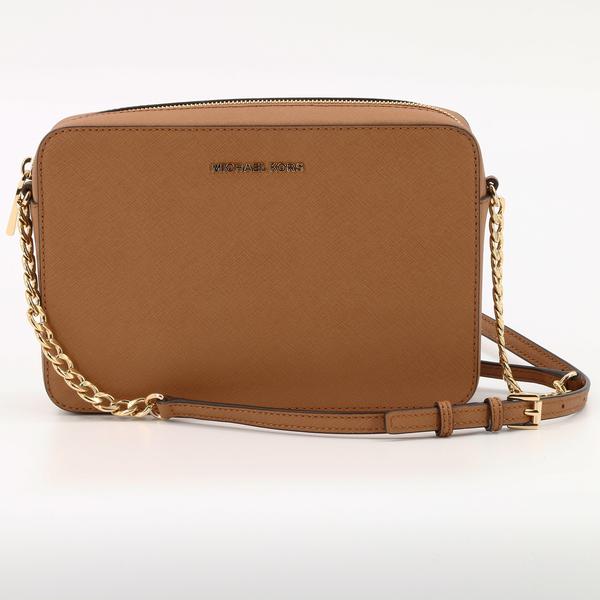 MICHAEL KORS JET SET NEW/NO TAGS Large Saffiano Leather Chain Crossbody Bag