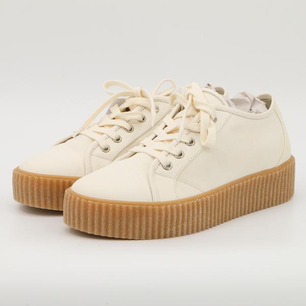 MM6 MAISON MARGIELA Women's Leather Platform Sneakers New