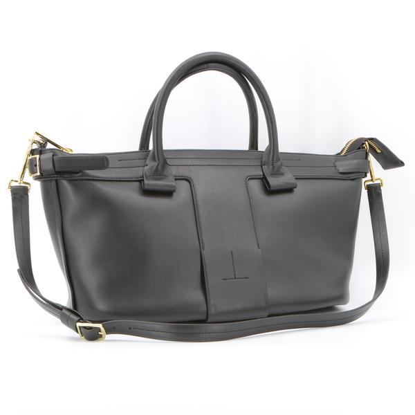 THEORY T BAR AMES $695 Black Womens Leather Purse Tote Bag G07AC063 - NWT