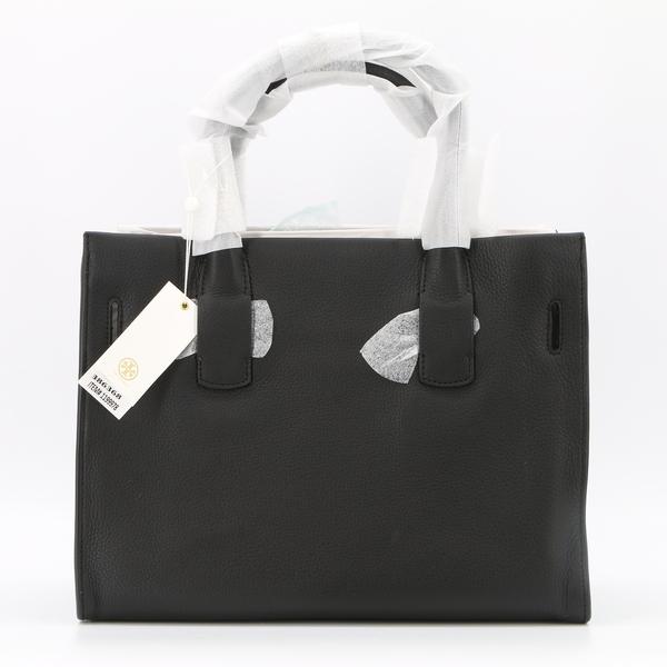 TORY BURCH NWT $598 Black Gemini Link Leather Tote Handbag Bag - 42049-0817