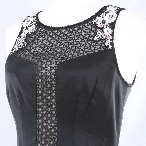 KAREN MILLEN Floral Lace Women's Evening Maxi Dress - Black - Style DS238