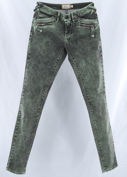 Rare MET $205 Green Zip Pockets Denim Women's Skinny Jeans Pants Bottoms - NWT
