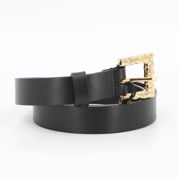Dsquared SS83S17BE3004 $190 Women's Gold Buckle Genuine Leather Belt - NWT