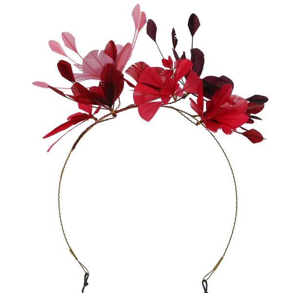 Valentino Garavani $1595 Women's Feathers Crown Headband-New