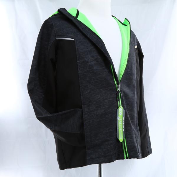 FREE COUNTRY Neon Green/Black Softshell Big Boys Jacket - Style 13-B910489