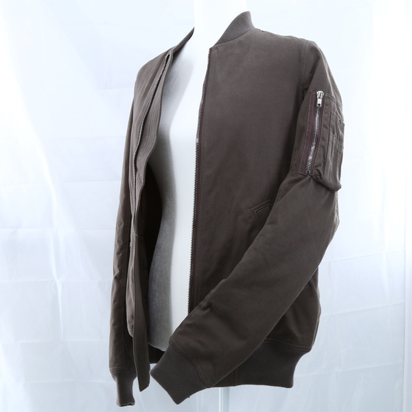 RICK OWENS NWT $700 Brown Back Strap Multipocket Women's Bomber Jacket Outerwear