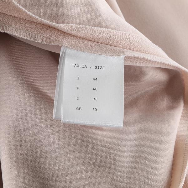 Sophisticated TTWELVE NWT $235 Tan Round Neck Women's Sheath Shift Midi Dress