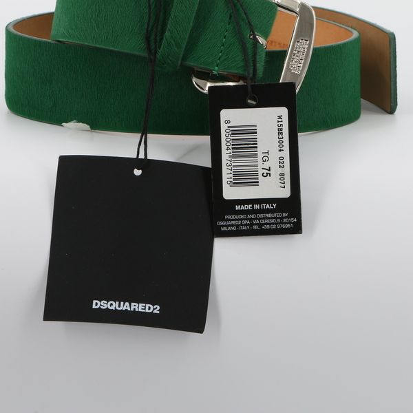DSquared2 $400 Women's Green Genuine Leather Belt W15BE3004 - NWT