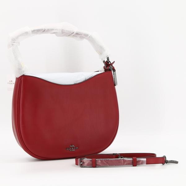 COACH 54446 NWT $279 Dark Cherry Glove Tanned Leather Nomad Crossbody Bag