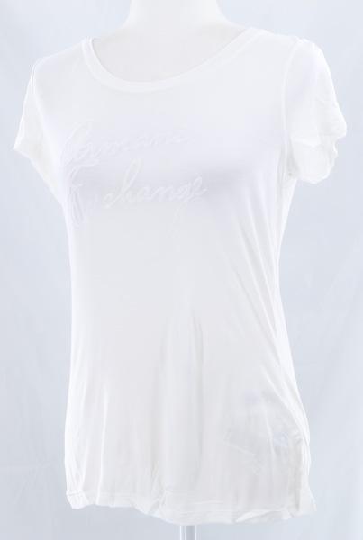 A|X ARMANI EXCHANGE NWT $165 White Brand Logo Print Women's T-Shirt Top
