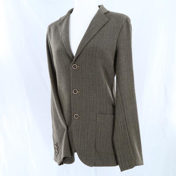 BOTTEGA CHILOMETRI Zero Madson NWT $260 Pinstriped Women's Suit Jacket Blazer